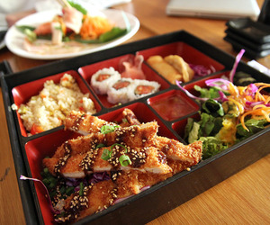 food, japanese food, and bento image