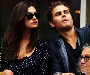 actress, paul wesley, and brunette image