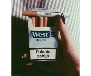 cigarette, smoke, and West image