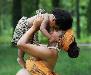 African, baby, and family image