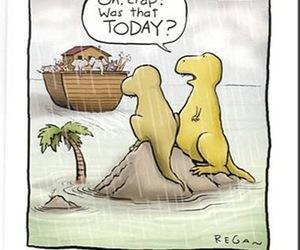 dinosaur, funny, and lol image