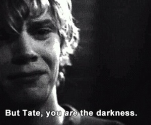 Darkness, tate langdon, and sadness image