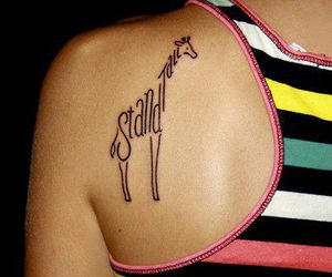 tattoo, giraffe, and stand tall image