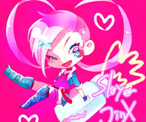 wink, jinx, and league of legends image