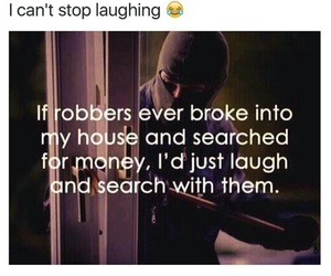 funny, robbers, and money image