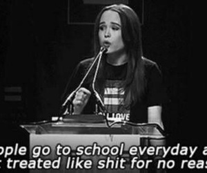 school, ellen page, and sad image