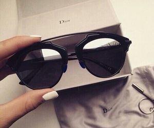 black, sunglasses, and dior image