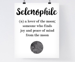 book, moon, and quote image