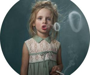 smoke, girl, and kids image