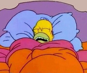 homer, sleep, and dormir image