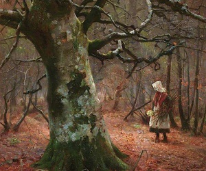 painting, woods, and art image