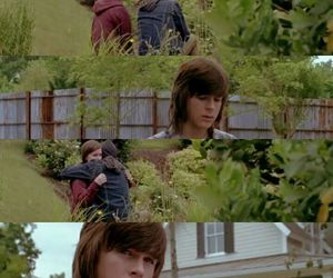 the walking dead, katelyn nacon, and chandler riggs image