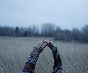 hands, indie, and sweater image