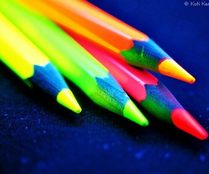 neon, colors, and pencil image