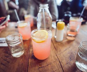 drink, lemonade, and food image