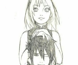sasusaku, sasuke, and sakura image