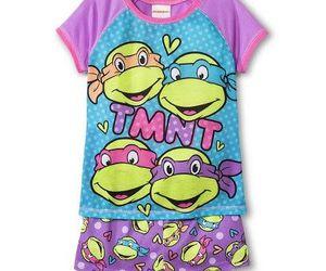little girl, purple, and teenage mutant ninja turtles image
