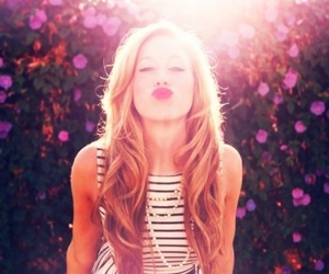 girl, kiss, and blonde image
