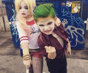harley quinn, joker, and suicide squad image