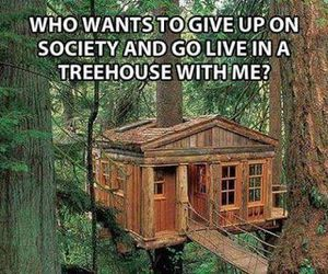 treehouse, funny, and me image