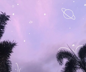 pastel, planets, and sky image