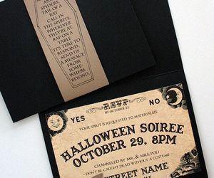 Halloween, invitations, and wedding image