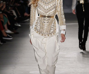 Balmain, model, and gigi hadid image
