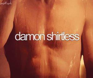 ian somerhalder, shirtless, and damon salvatore image