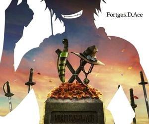 one piece, ace, and portgas d ace image