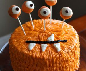 monster, cake, and Halloween image
