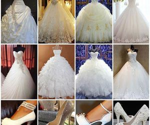 beauty, ericdress reviews, and wedding dress image