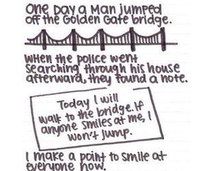 smile, bridge, and sad image