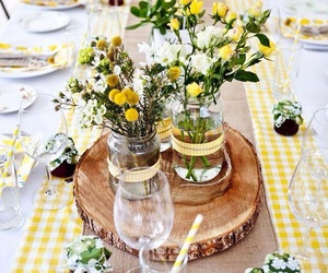 flowers, decor, and yellow image
