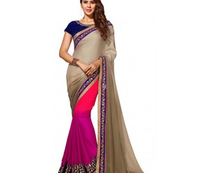 clothing, fashion, and indian saree image