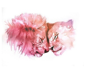 lion, love, and art image