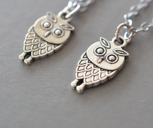 etsy, owl necklace, and friendship necklace image