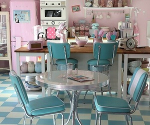 kitchen, retro, and vintage image