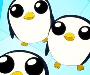 adventure time, penguin, and gunter image