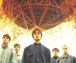 oasis, 90s, and band image
