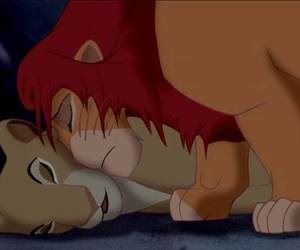 disney, king, and lion image
