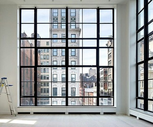 city, window, and home image
