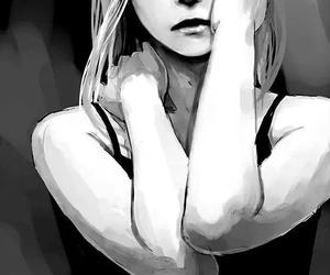 anime, girl, and sad image