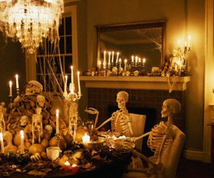 candles and skeleton image