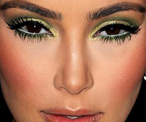 girl, kim kardashian, and make up image