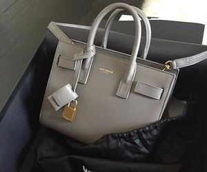 bag, luxury, and grey image
