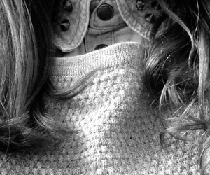 black, black&white, and blouse image
