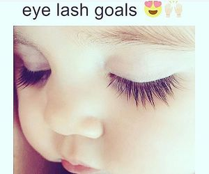 baby, goals, and eyelashes image