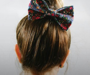 hair, style, and bow hair image