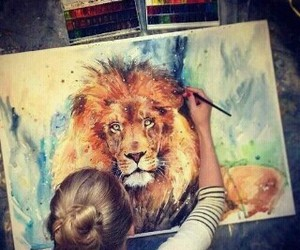 lion and Painter image