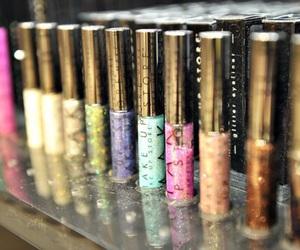 make up, glitter, and eyeliner image